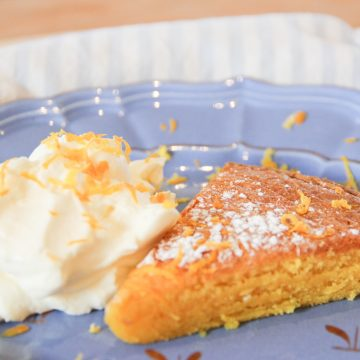 Swedish Saffron & White Chocolate Cake
